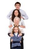 Row of family Royalty Free Stock Photo