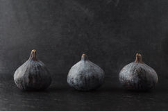 Row of Figs on Black Royalty Free Stock Images