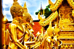 A row of figure of Buddha Royalty Free Stock Image