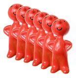 Row of Figurines Royalty Free Stock Photo
