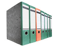 Row of file folders Stock Photo
