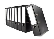 Row of file folders Stock Photos
