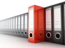 Row files on white background Royalty Free Stock Image