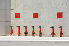Row of fire hydrant Stock Images