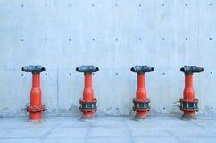 Row of fire hydrant Royalty Free Stock Photo