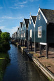 Row of fisherman's houses at the port of Marken Stock Image