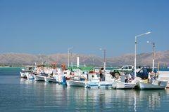 Row of Fishing Boats Royalty Free Stock Photos