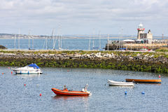 Row of fishing boats, Howth harbour, Ireland Royalty Free Stock Photography