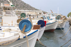 Row of fishing boats Stock Photo