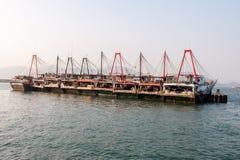 Row of fishing boats Stock Image