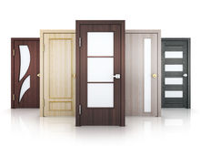 Row five doors Stock Images