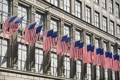 Row of flags Stock Photography