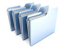 Row of Folders Royalty Free Stock Photo