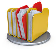 Row of folders and files Royalty Free Stock Photography