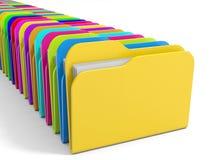 Row of  folders icon. Stock Image