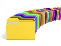 Row of  folders icon. Royalty Free Stock Photography