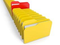 Row of  folders icon. Royalty Free Stock Photo