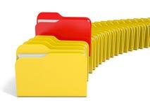 Row of  folders icon. Royalty Free Stock Photos