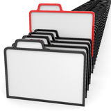 Row of folders sign. Searching concept. Stock Image