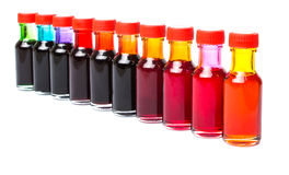 Row Of Food Color Additives II Stock Photos
