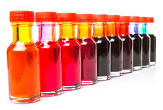 Row Of Food Color Additives VII royalty free stock images