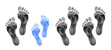 Row of footprints Royalty Free Stock Images