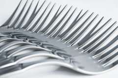 Row of forks Royalty Free Stock Images