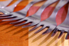Row of Forks Royalty Free Stock Image