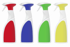 Blank spray bottles Royalty Free Stock Photos