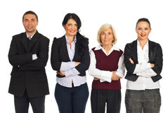 Row of four business people Royalty Free Stock Photography