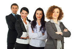 Row of four business people Stock Image