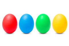 Four painted eggs Stock Photos