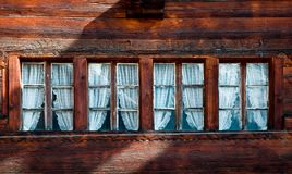 Row of four small windows Royalty Free Stock Image