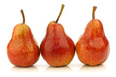 Row of fresh Bartlett Pears Royalty Free Stock Photography