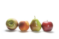 Row of Fresh Fruits Royalty Free Stock Photography