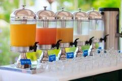 Juice at buffet restaurant Royalty Free Stock Photo