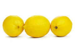 Row of Fresh Lemons Royalty Free Stock Photography