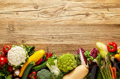 Row of fresh vegetables background Royalty Free Stock Photography