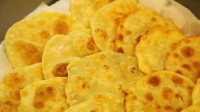 Row of fried chapatis Stock Photography
