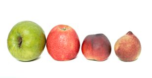 Row of Fruits Royalty Free Stock Photos