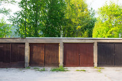 Row garage doors Stock Image
