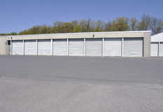 Row of garages Stock Images