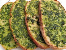 Row of Garlic Bread Stock Images