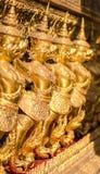Row of the garuda statues. At Wat Pra Keaw Royalty Free Stock Image