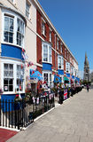 Row of Georgian townhouse guesthouses in Weymouth. Row of Georgian townhouse guest houses in the seaside town of Weymouth in Dorset Royalty Free Stock Images