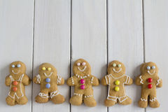 Row of Gingerbread Men Stock Image