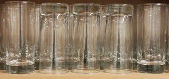 A Row Glass Tumblers Stock Photo