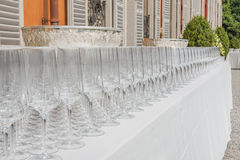 Row of glasses Royalty Free Stock Images