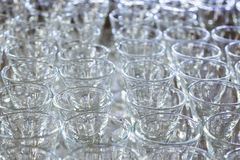Row of Glasses in Glass Factory Stock Photos