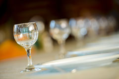 Row of glasses Royalty Free Stock Photography